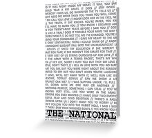 The National Typography Greeting Card
