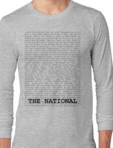 The National Typography Long Sleeve T-Shirt