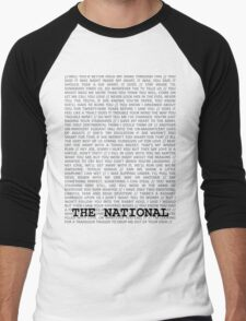 The National Typography Men's Baseball ¾ T-Shirt