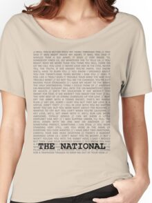 The National Typography Women's Relaxed Fit T-Shirt