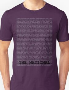 The National Typography T-Shirt