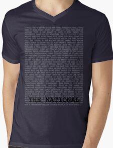 The National Typography Mens V-Neck T-Shirt