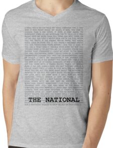 The National Typography Mens V-Neck T-Shirt