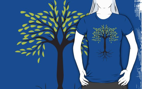 tee tree T-shirt  by teegs