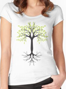 tee tree T-shirt  Women's Fitted Scoop T-Shirt