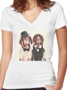 F.I.P. @ifitwags (The pointer brothers) Women's Fitted V-Neck T-Shirt