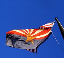 The USA & Arizona State Flags by down23