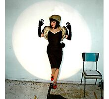 Sveta in the spotlight Photographic Print