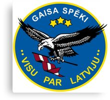 Emblem of the Latvian Air Force Canvas Print