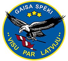 Emblem of the Latvian Air Force Photographic Print