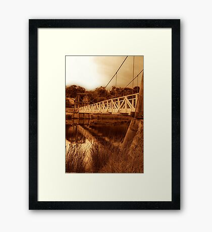 """The Swing Bridge"" Framed Print"