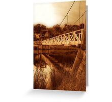 """The Swing Bridge"" Greeting Card"