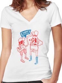 You Are Empty!  Women's Fitted V-Neck T-Shirt