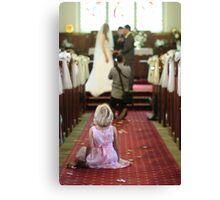 Young Girl at a Wedding  Canvas Print
