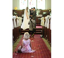 Young Girl at a Wedding  Photographic Print