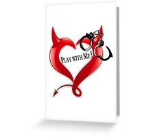 Devil Heart and Handcuffs Greeting Card