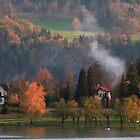 A pretty scene at Lake Bled, Slovenia by Elana Bailey