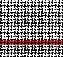 Houndstooth Pattern with Red Accent Stripe by TheMustache