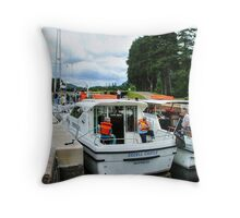 A busy day at Laggan Lock on the Caledonian Canal, Scotland........! Throw Pillow