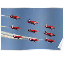 Red Arrows Hawks in Diamond Nine and 2014 Livery Poster