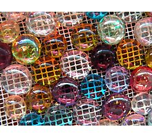 Rich Colorful Glass Droplets Photographic Print