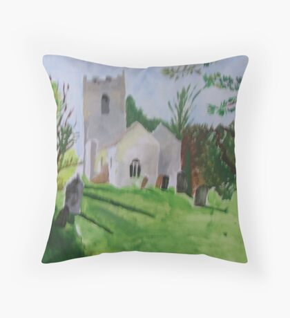 the cemetery Throw Pillow