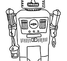 Colour in Robot B/W by Jessica Slater