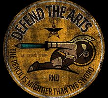 DEFEND THE ARTS ROUND by Ronzi