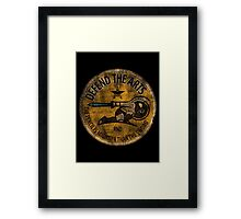 DEFEND THE ARTS ROUND Framed Print