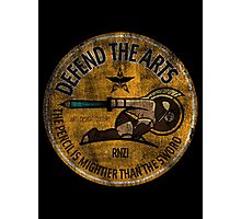 DEFEND THE ARTS ROUND Photographic Print