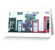 Irish Street Signs Greeting Card