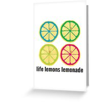 Life and Lemons Greeting Card