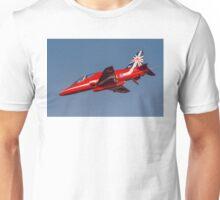 Red Arrows' Hawk T.1A in 50th Season Colours. Unisex T-Shirt