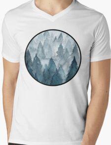 Clear Winter Mens V-Neck T-Shirt