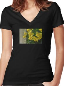 Peeking Women's Fitted V-Neck T-Shirt