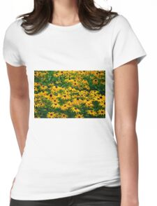 Black Eyed Daisies Womens Fitted T-Shirt