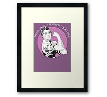 This Is What A Feminist Looks Like Geraldine Doyle T Shirt Framed Print