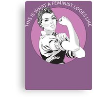 This Is What A Feminist Looks Like Geraldine Doyle T Shirt Canvas Print