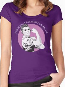 This Is What A Feminist Looks Like Geraldine Doyle T Shirt Women's Fitted Scoop T-Shirt