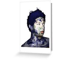 Warhol Polaroid Earth Basquiat Africa Europe King Of the World Greeting Card