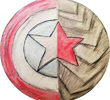 Captain America/Winter Soldier Shield by EDENNN320