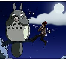 Totoro and the Doctor's Midnight Musicale by mikaelaK