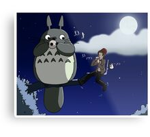 Totoro and the Doctor's Midnight Musicale Metal Print