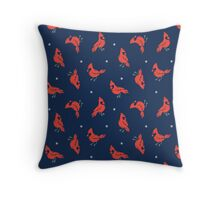 Cold Weather Birds Throw Pillow