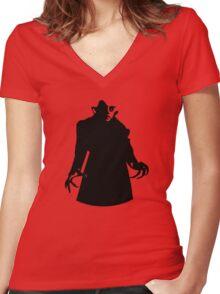 Nosferatu Returns For Halloween... Women's Fitted V-Neck T-Shirt