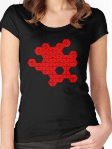 Evangelion – Emergency Women's Fitted Scoop T-Shirt