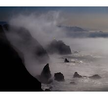 Lighthouse in the mist Photographic Print
