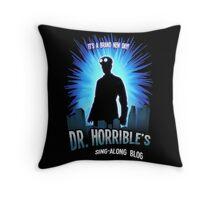 Dr. Horribles sing-along blog  Throw Pillow