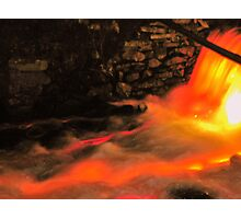Illumined And In Flames Photographic Print