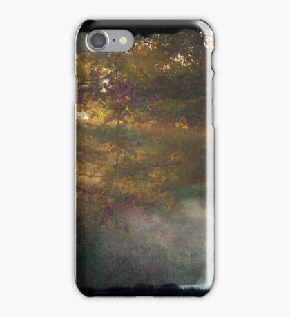 Sunrise through the trees iPhone Case/Skin